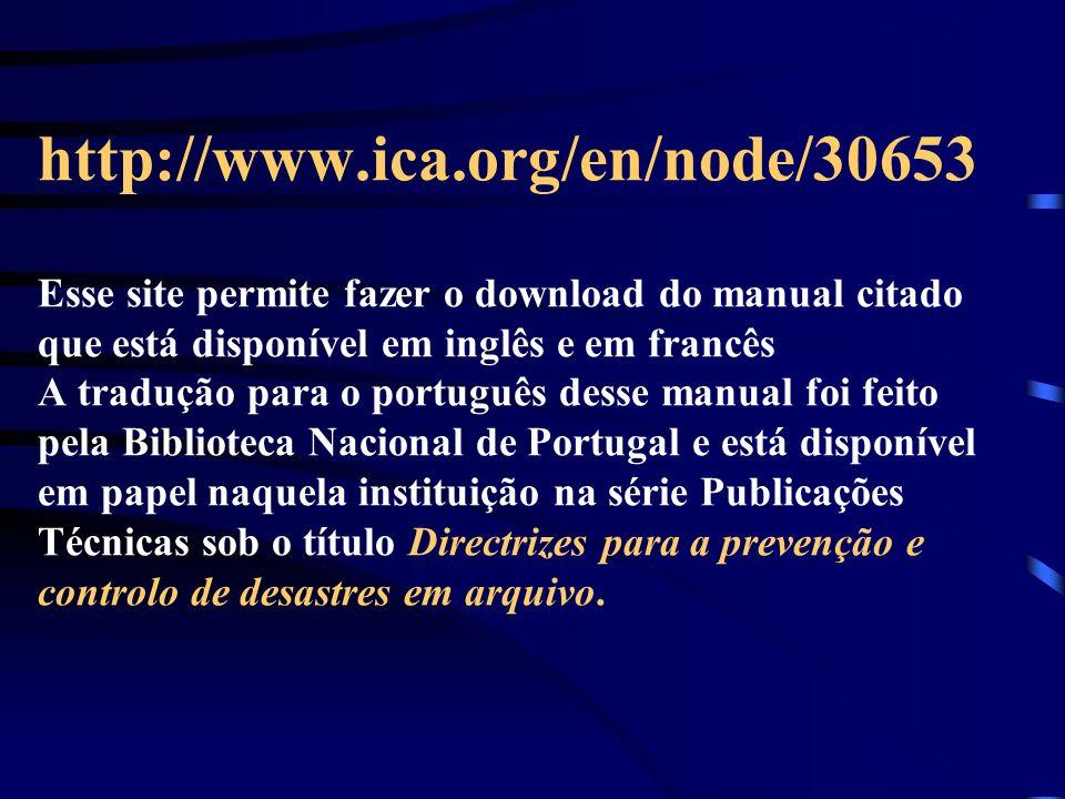 http://www.ica.org/en/node/30653 Esse site permite fazer o download do manual citado que está disponível em inglês e em francês A tradução para o port