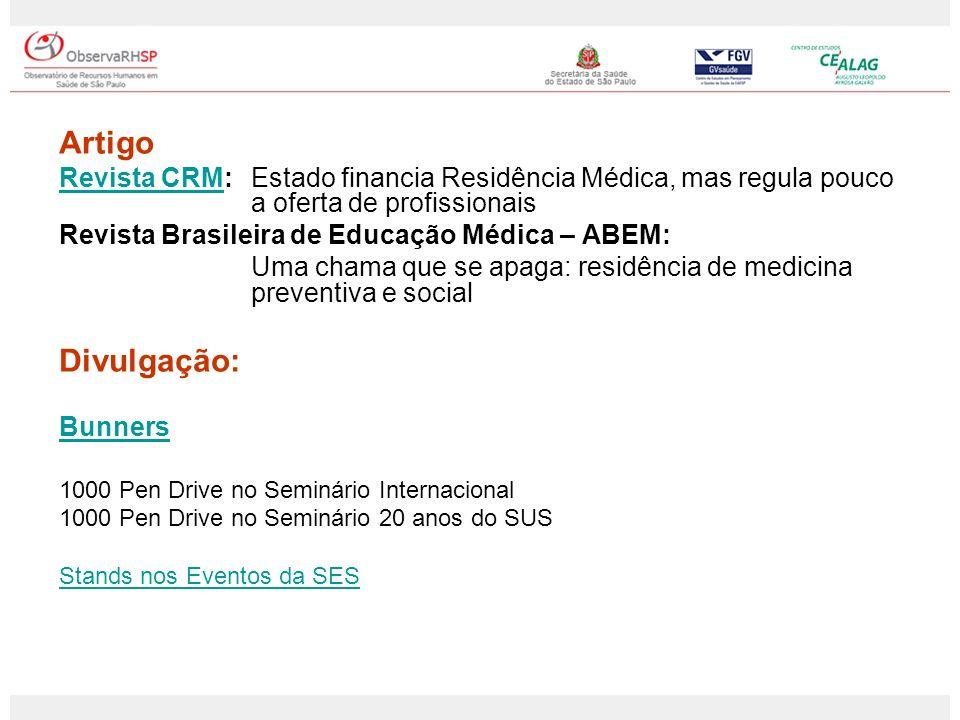 Artigo Revista CRMRevista CRM: Estado financia Residência Médica, mas regula pouco a oferta de profissionais Revista Brasileira de Educação Médica – A