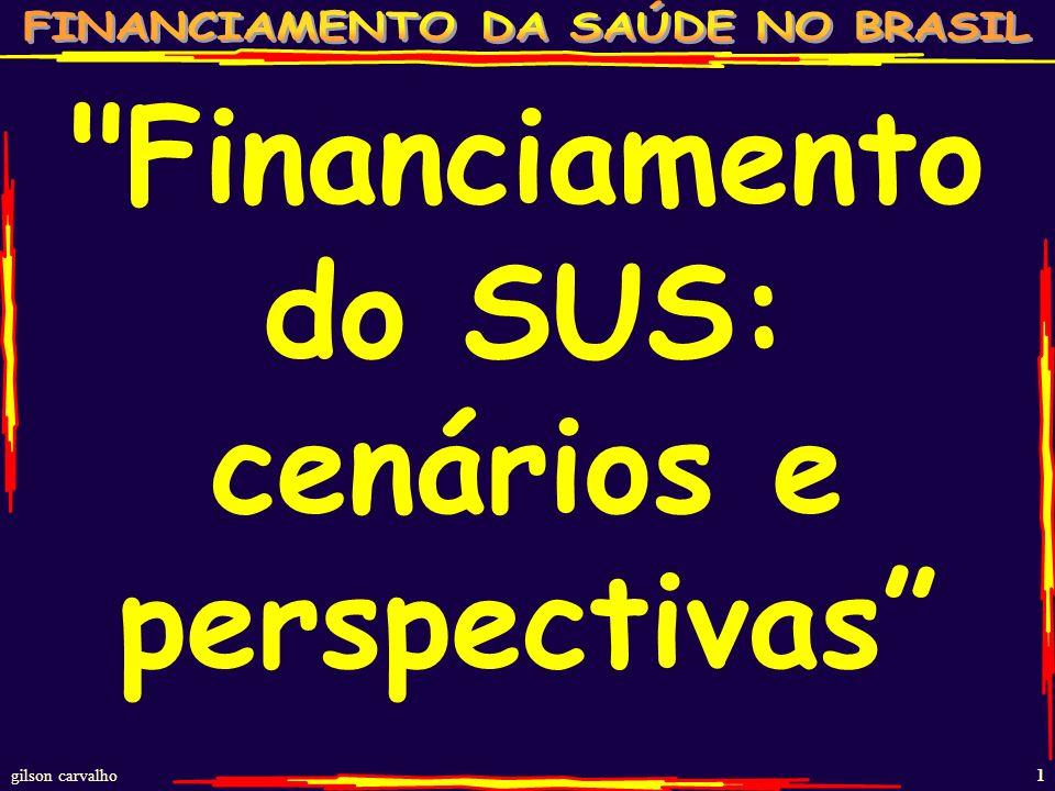 gilson carvalho 1 Financiamento do SUS: cenários e perspectivas