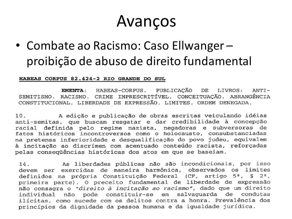 Avanços Combate ao Racismo: Caso Ellwanger – proibição de abuso de direito fundamental