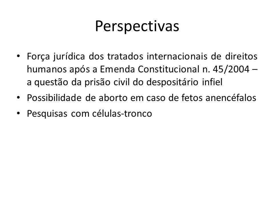 Perspectivas Força jurídica dos tratados internacionais de direitos humanos após a Emenda Constitucional n. 45/2004 – a questão da prisão civil do des