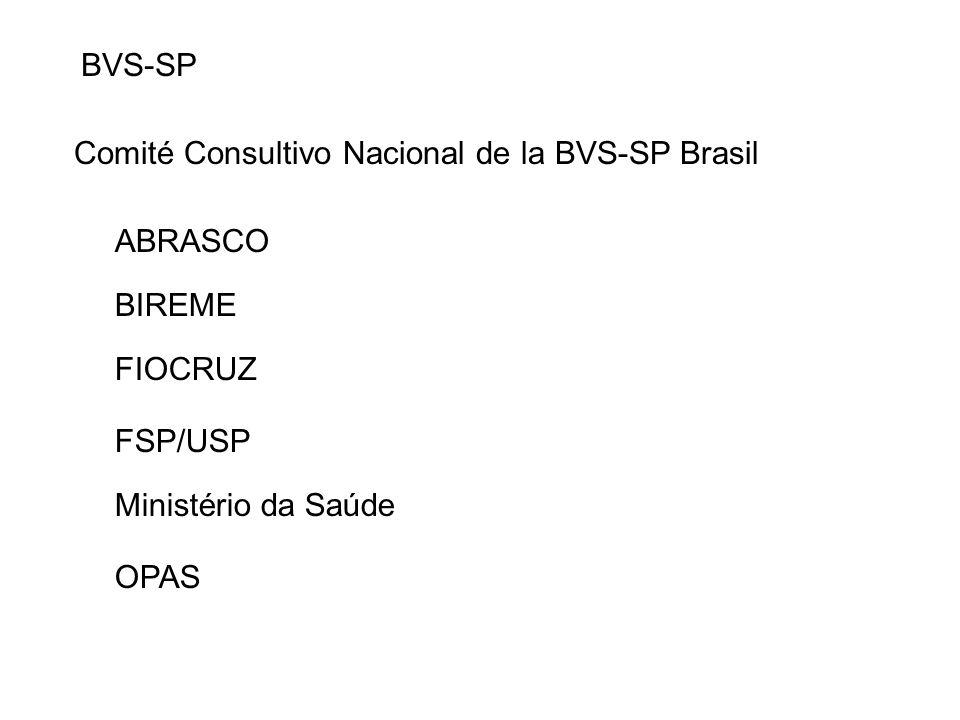 BVS-SP Comité Consultivo Nacional de la BVS-SP Brasil Ministério da Saúde OPAS FIOCRUZ FSP/USP ABRASCO BIREME