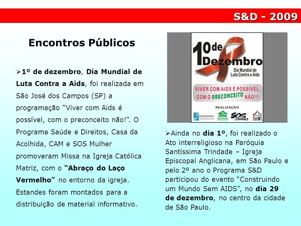 Encontros Públicos 1º de dezembro, Dia Mundial de Luta Contra a Aids, foi realizada em São José dos Campos (SP) a programação Viver com Aids é possíve