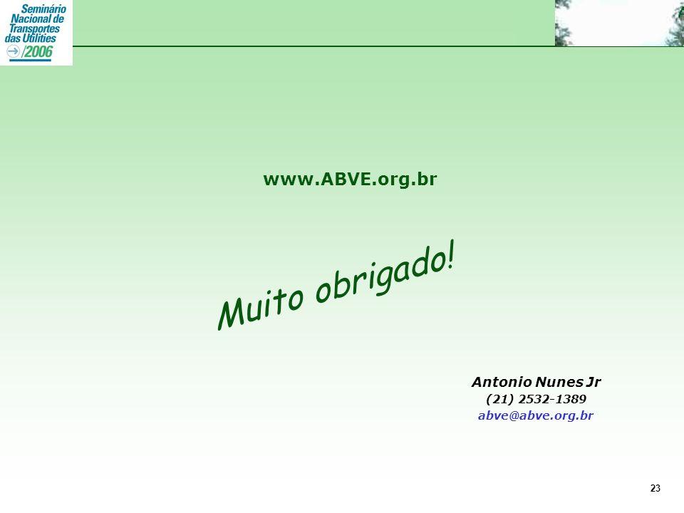 www.ABVE.org.br 23 Muito obrigado! Antonio Nunes Jr (21) 2532-1389 abve@abve.org.br www.ABVE.org.br