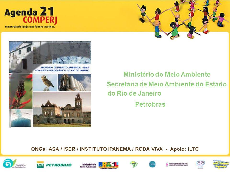Ministério do Meio Ambiente Secretaria de Meio Ambiente do Estado do Rio de Janeiro Petrobras ONGs: ASA / ISER / INSTITUTO IPANEMA / RODA VIVA - Apoio