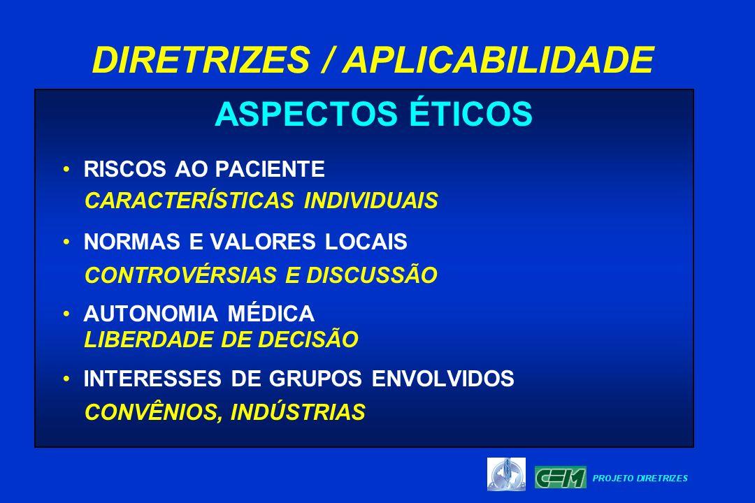ASPECTOS ÉTICOS RISCOS AO PACIENTE CARACTERÍSTICAS INDIVIDUAIS NORMAS E VALORES LOCAIS CONTROVÉRSIAS E DISCUSSÃO AUTONOMIA MÉDICA LIBERDADE DE DECISÃO