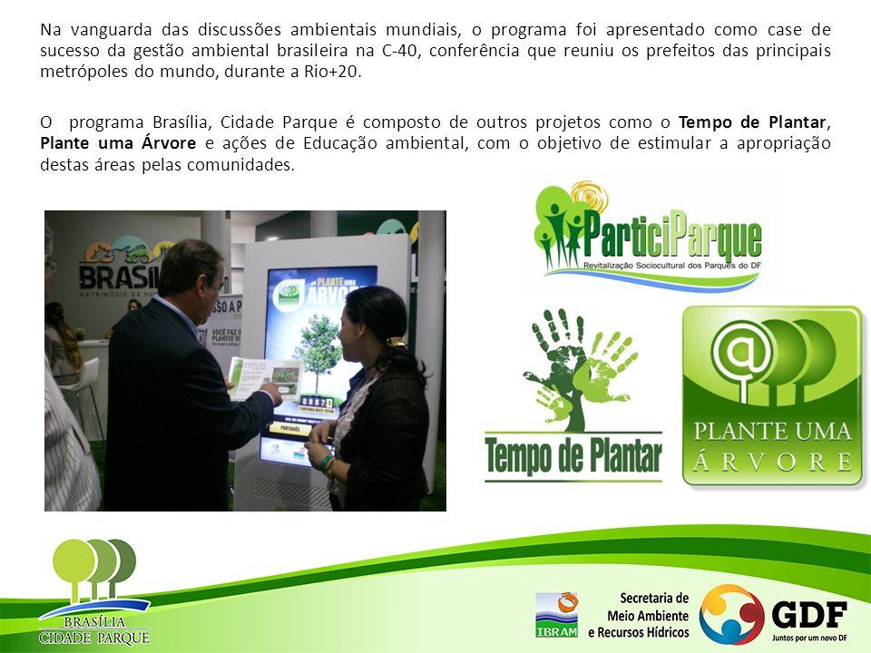 Destinação de Recursos da Compensação Ambiental e Florestal Undiade de ConservaçãoRegião AdministrativaCompensação 1Compensação 2TotalObs: Parque dos JequitibásSobradinho R$ 148.816,08 R$ 360.000,00 R$ 508.816,08TC Formalizado Parque de Águas ClarasÁguas Claras R$ 3.551.443,72 R$ 249.083,70 R$ 3.800.527,42TC Formalizado Parque da Vila PlanaltoBrasília R$ 228.308,05 R$ 2.500.000,00 R$ 2.728.308,05TC Formalizado Parque Ezechias HeringuerGuará Valor indeterminado R$ 249.083,70 TC Formalizado Parque de Uso Múltiplo da Lago NorteBrasília R$ 111.845,59 TC Formalizado Parque das AvesBrasília R$ 400.000,00 TC Formalizado Parque Saburoh OnoyamaTaguatinga R$ 1.891.121,00 TC Formalizado Parque das Asa SulBrasília R$ 1.891.121,00 TC Formalizado REBIO do GuaráGuará R$ 277.773,16 R$ 606.615,37 R$ 884.388,53TC Formalizado Parque Bosque do SudoesteSudoeste R$ 403.868,10 R$ 383.581,30 R$ 787.449,40TC Formalizado Parque Ecológico e Vivencial do Riacho FundoRiacho Fundo R$ 2.500.000,00 R$ 276.268,94 R$ 2.776.268,94TC Formalizado Parque Dom BoscoLago Sul R$ 2.631.148,94 TC Formalizado Parque da EstruturalEstrutural R$ 2.280.031,60 TC Formalizado Parque Urbano do ParanoáParanoá R$ 377.085,06 TC Formalizado Parque Ecológico das GarçasLago Norte R$ 349.725,35 R$ 1.372.820,90 R$ 1.722.546,25TC Formalizado Parque do ArealÁguas Claras R$ 532.990,83 TC Formalizado Parque Ecológico do Tororó Santa Maria R$ 3.682.268,32 TC Formalizado Parque Ecológico de São SebastiãoSão Sebastião R$ 2.760.000,00 TC Formalizado Parque Ecológico e Vivencial Recanto das EmasRecanto das Emas R$ 1.350.000,00 TC Formalizado Parque Ecológico Três MeninasSamambaia R$ 3.500.000,00 TC Formalizado Parque Ecológico e Vivencial PinheirosParanoá R$ 3.000.000,00 Em formalização Parque Ecológico Bernardo SayãoLago Sul R$ 3.000.000,00 Em formalização Parque Ecológico e Vivencial CanjeranaLago Sul R$ 400.777,29 Em formalização Parque Ecológico das CopaíbasLago Sul R$ 360.000,00 Em formalização ESEC-AEPlanaltina R$ 67.647,12 R$ 