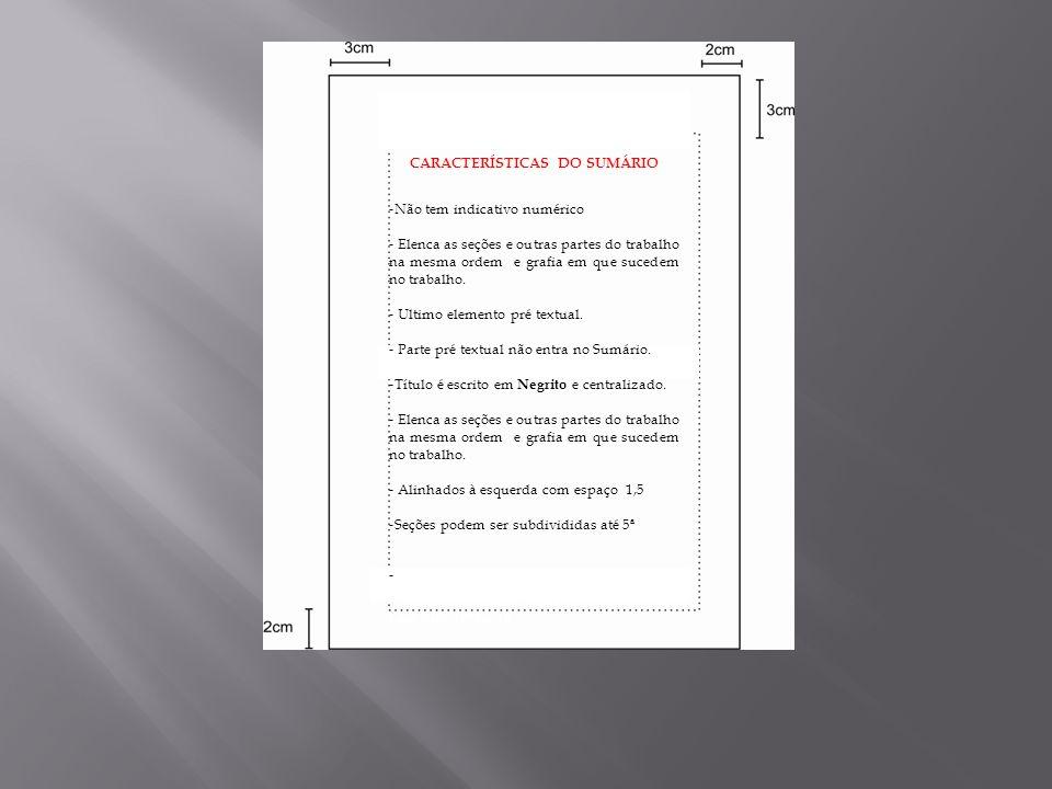 ------------------------------- 1 BRANDÃO, Helena, Normas TCC Administração. Lins, Bells, 1994,p.18 Características do SCARACTERÍSTICAS CARACTERÍSTICA