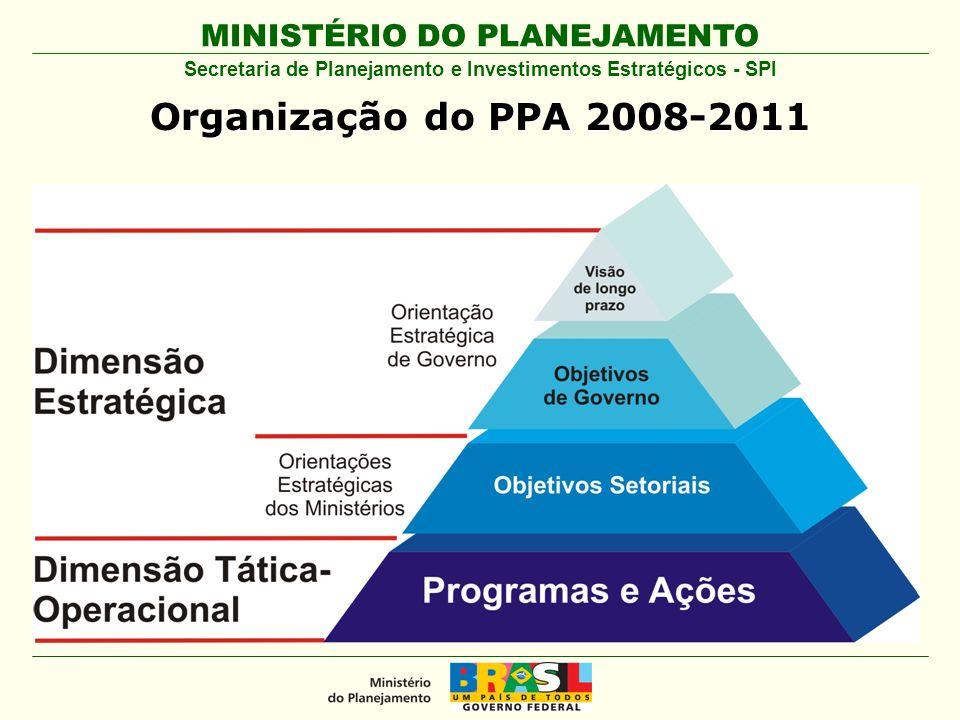 MINISTÉRIO DO PLANEJAMENTO Organização do PPA 2008- 2011 Secretaria de Planejamento e Investimentos Estratégicos - SPI