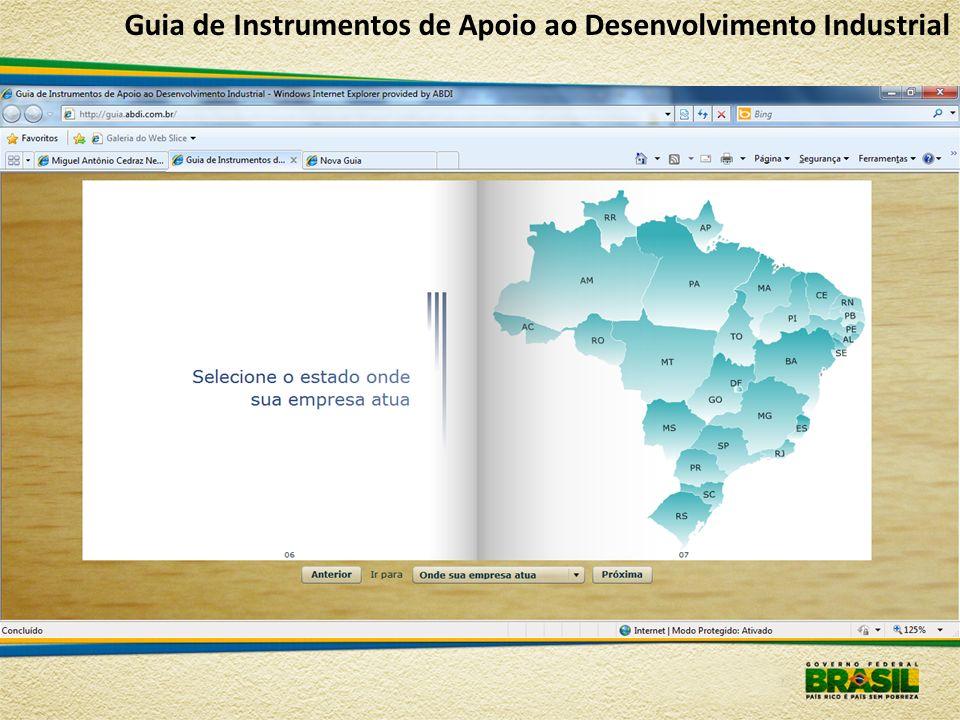 Guia de Instrumentos de Apoio ao Desenvolvimento Industrial