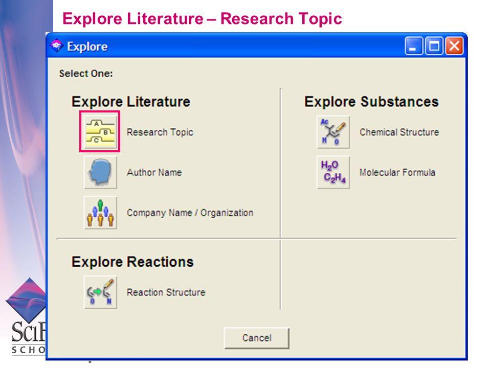 Explore Literature – Research Topic