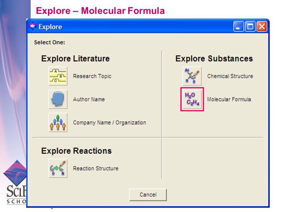 Explore – Molecular Formula