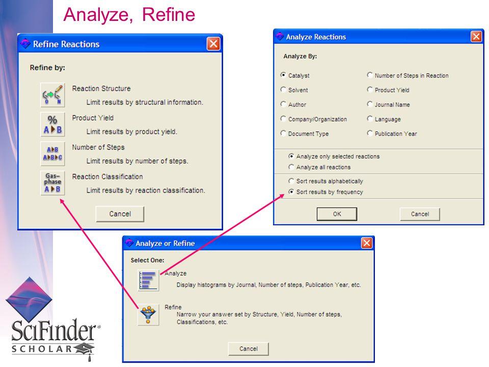 Analyze, Refine