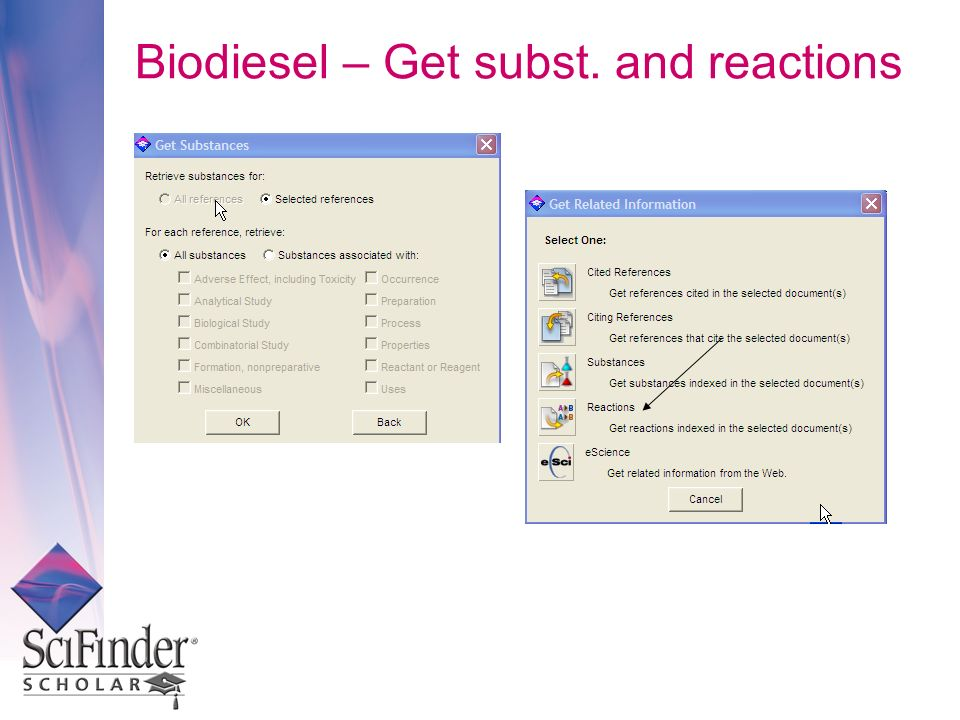 Biodiesel – Get subst. and reactions