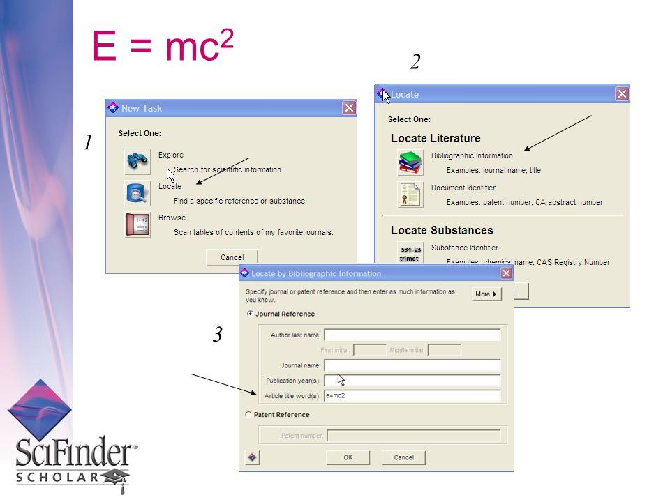E = mc 2 1 2 3