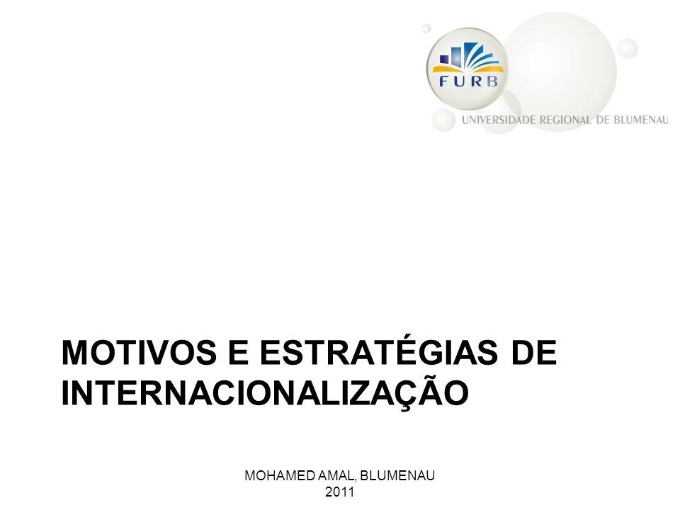 MOTIVOS E ESTRATÉGIAS DE INTERNACIONALIZAÇÃO MOHAMED AMAL, BLUMENAU 2011