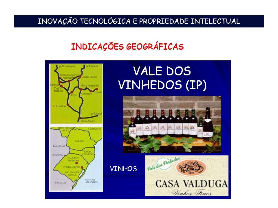 INOVAÇÃO TECNOLÓGICA E PROPRIEDADE INTELECTUAL INDICAÇÕES GEOGRÁFICAS