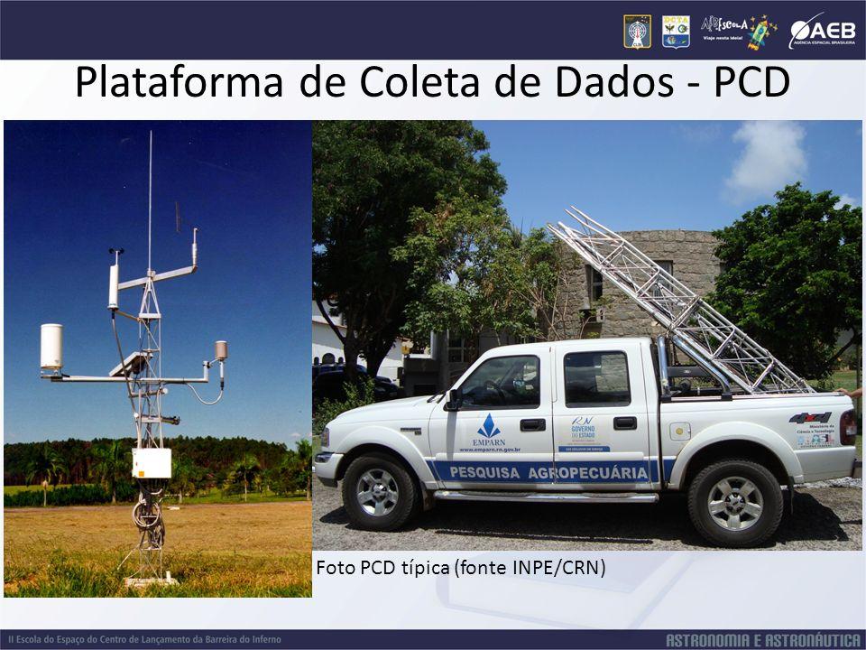 Plataforma de Coleta de Dados - PCD Foto PCD típica (fonte INPE/CRN)