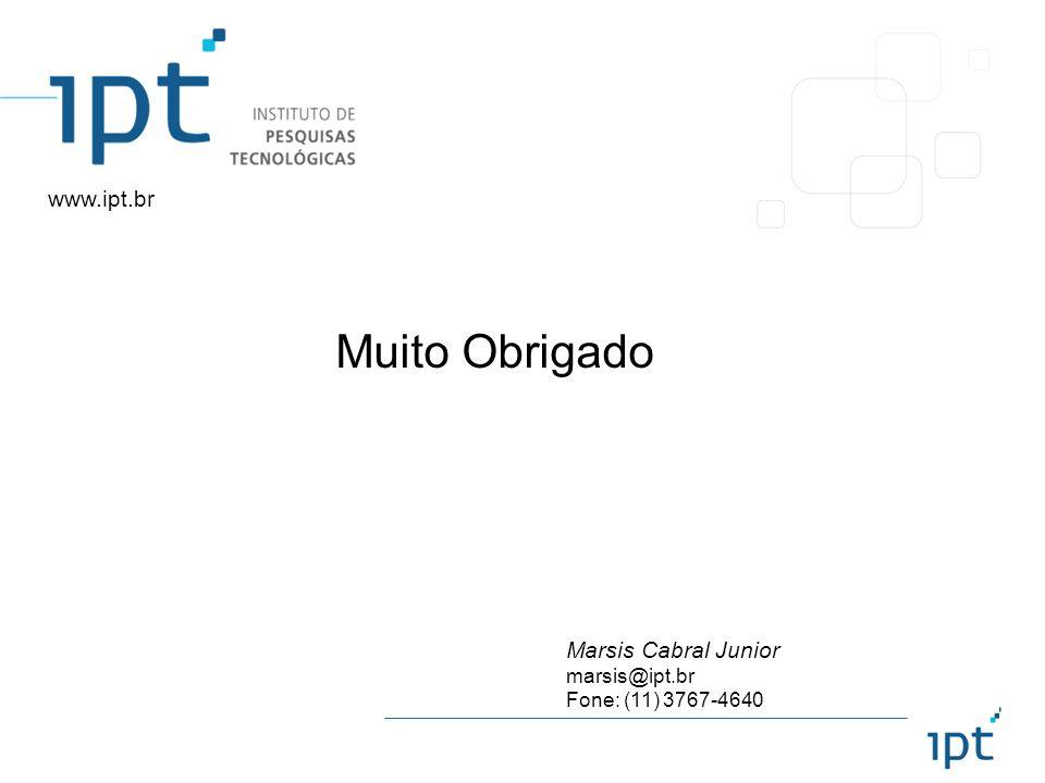 Marsis Cabral Junior marsis@ipt.br Fone: (11) 3767-4640 www.ipt.br Muito Obrigado