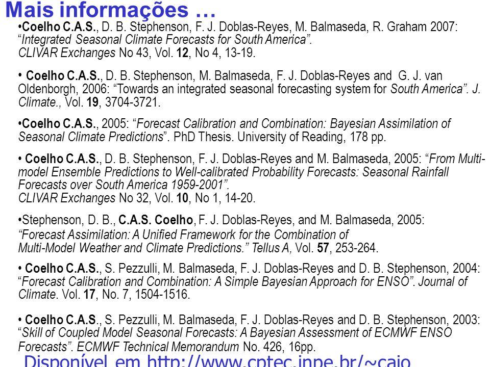 53 Coelho C.A.S., D. B. Stephenson, F. J. Doblas-Reyes, M.