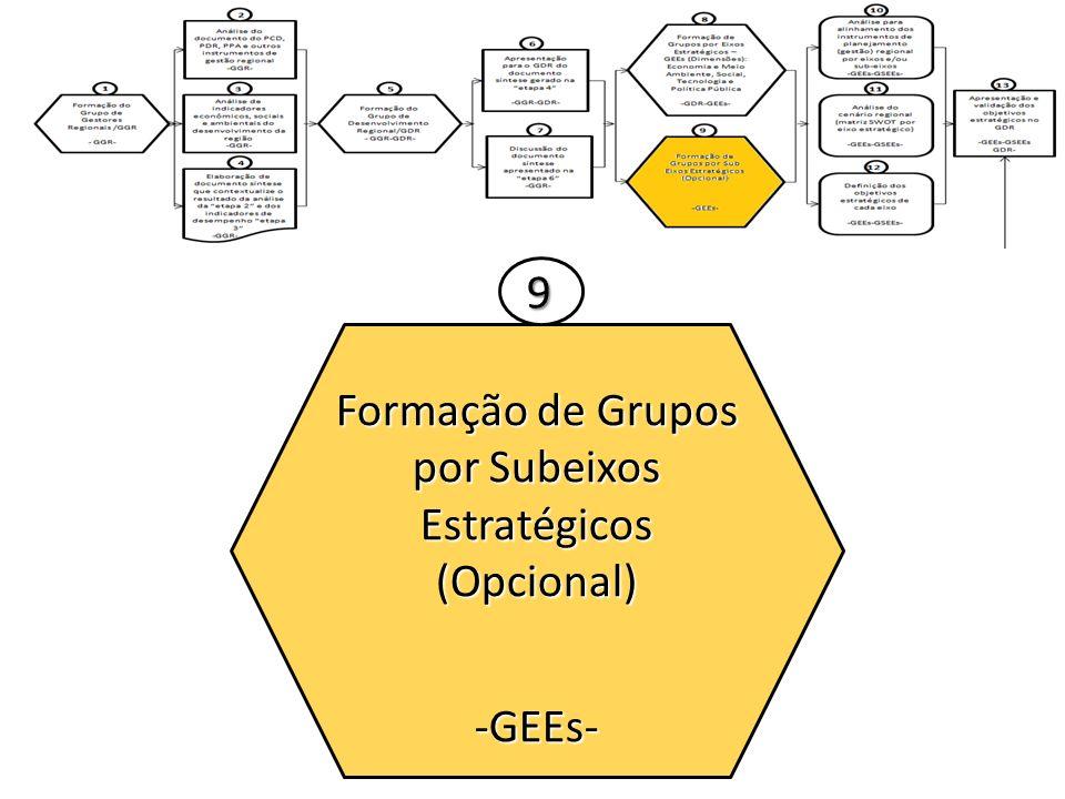 Formação de Grupos por Subeixos Estratégicos (Opcional)-GEEs- 9