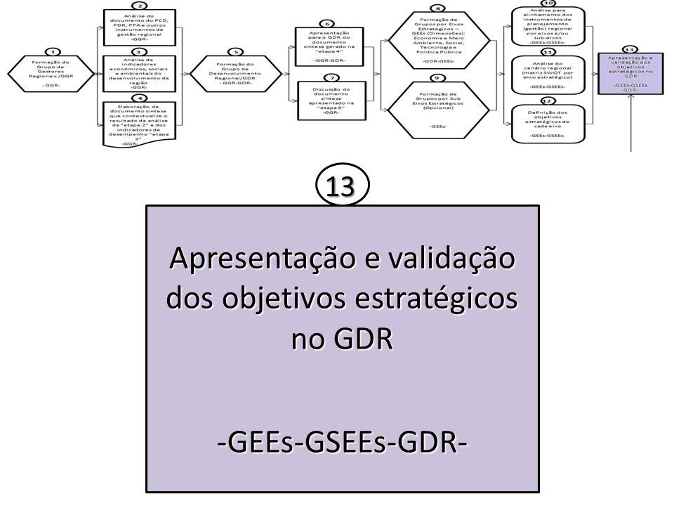 Apresentação e validação dos objetivos estratégicos no GDR -GEEs-GSEEs-GDR- 13