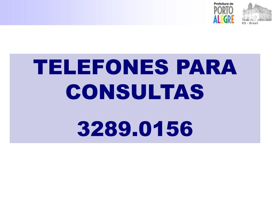 TELEFONES PARA CONSULTAS 3289.0156