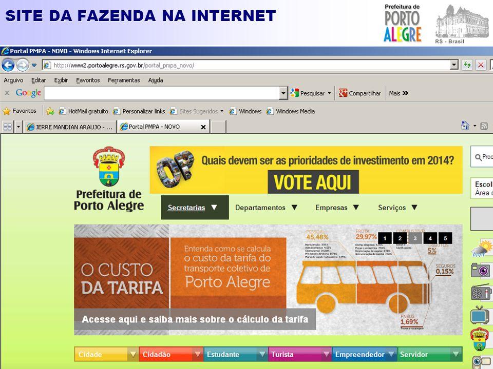 SITE DA FAZENDA NA INTERNET