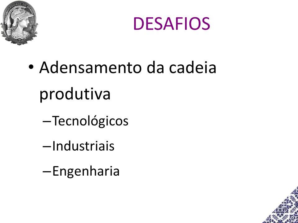 Adensamento da cadeia produtiva – Tecnológicos – Industriais – Engenharia DESAFIOS