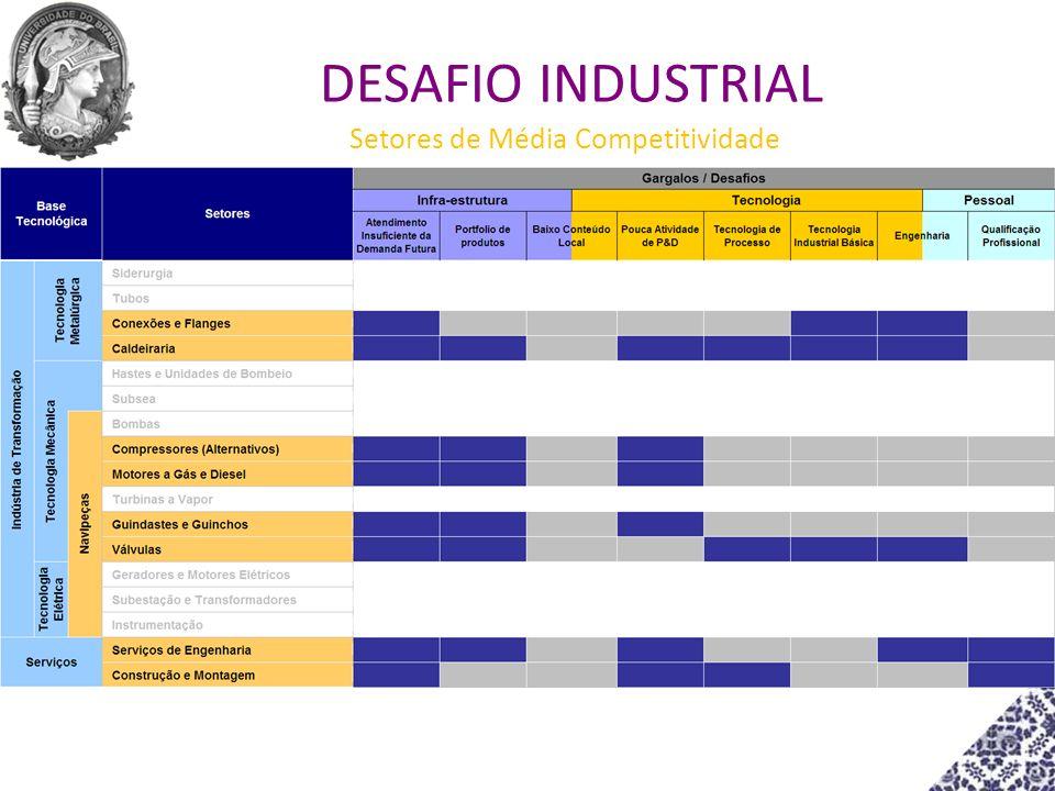 Setores de Média Competitividade DESAFIO INDUSTRIAL