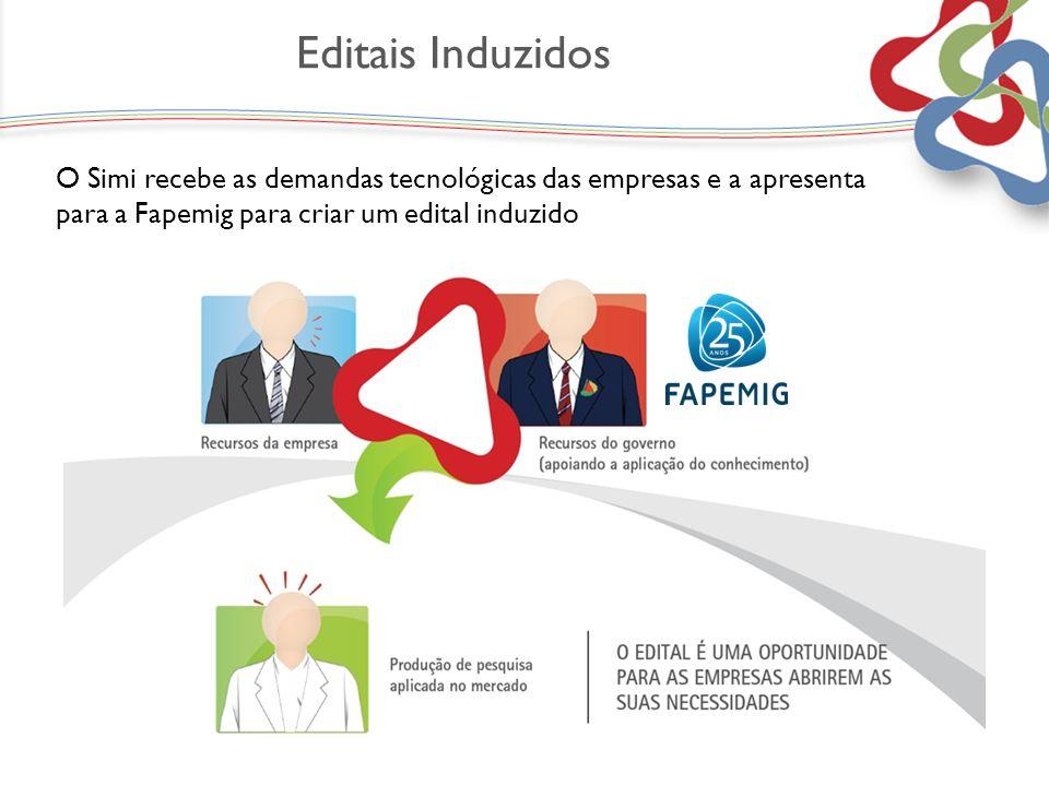 O Simi recebe as demandas tecnológicas das empresas e a apresenta para a Fapemig para criar um edital induzido