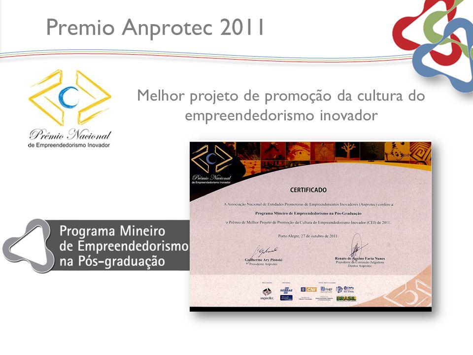 Premio Anprotec 2011 Melhor projeto de promoção da cultura do empreendedorismo inovador