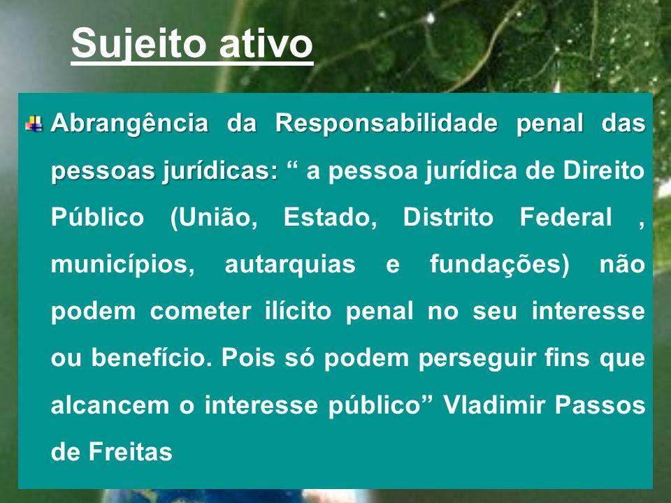 Sujeito ativo Impossibilidade de responsabilização da pessoa jurídica por crimes culposos: Impossibilidade de responsabilização da pessoa jurídica por