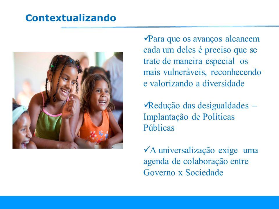 Crianças até 3 sem acesso a Creche 270.000 crianças que deveriam estar em creches ( fonte:PNAD/2007)