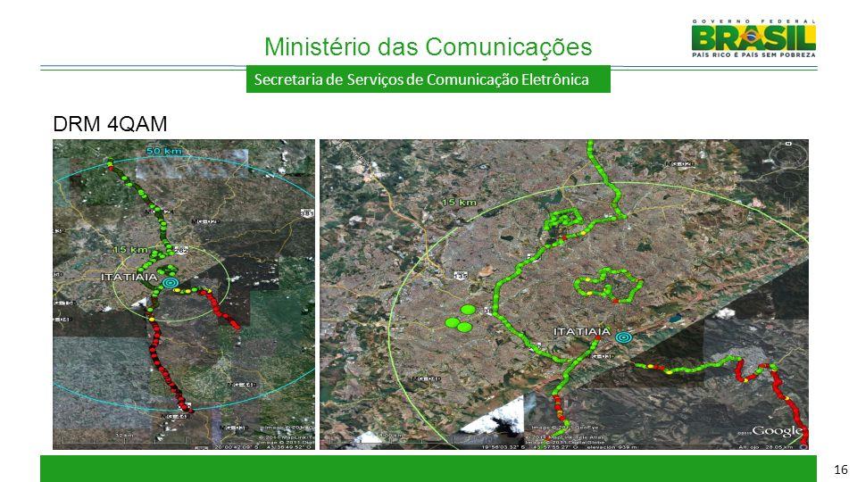 Secretaria de Serviços de Comunicação Eletrônica Ministério das Comunicações 16 DRM 4QAM