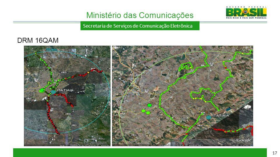 Secretaria de Serviços de Comunicação Eletrônica Ministério das Comunicações 17 DRM 16QAM