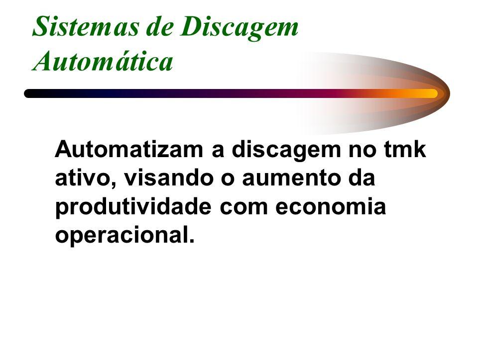 Sistemas de Discagem Automática Automatizam a discagem no tmk ativo, visando o aumento da produtividade com economia operacional.
