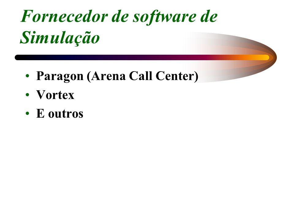 Fornecedor de software de Simulação Paragon (Arena Call Center) Vortex E outros