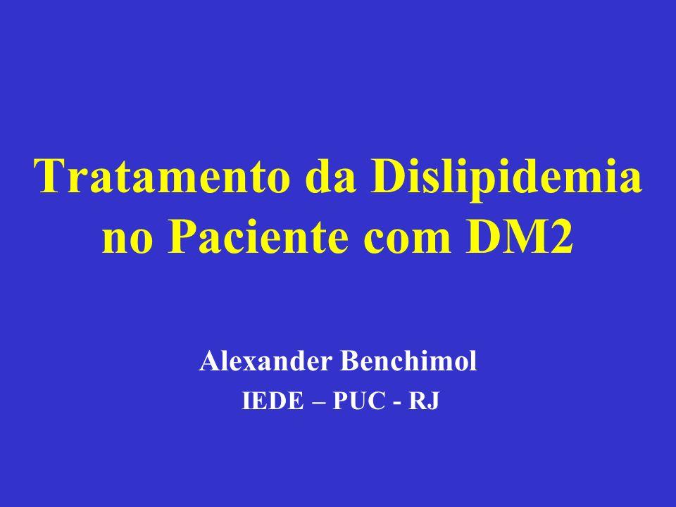 Tratamento da Dislipidemia no Paciente com DM2 Alexander Benchimol IEDE – PUC - RJ
