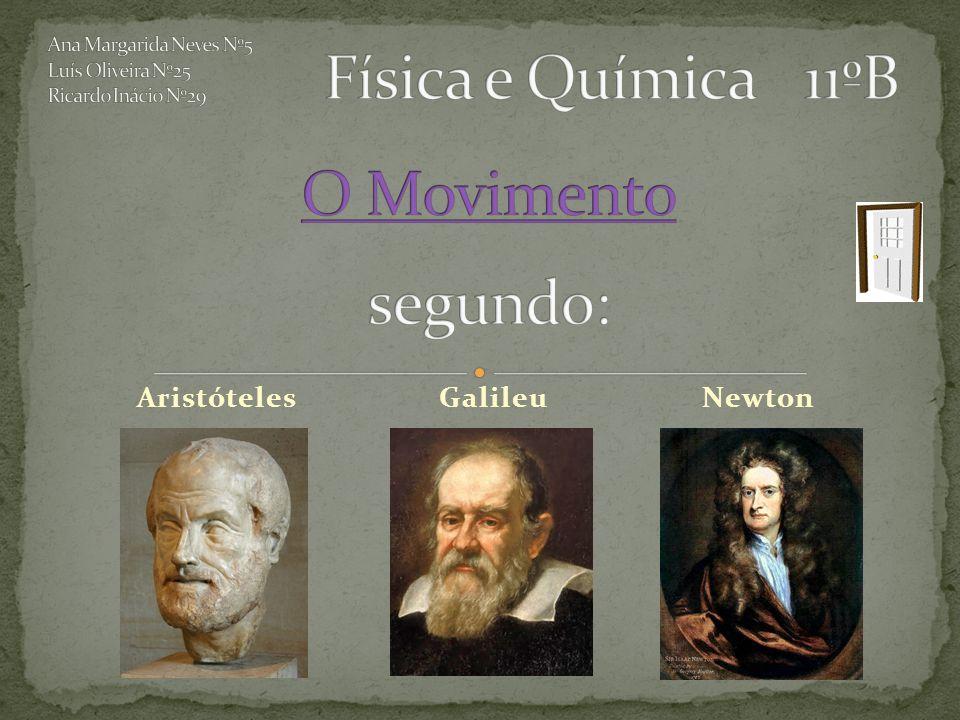 AristótelesGalileuNewton