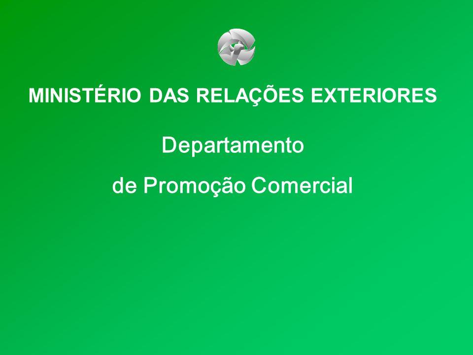 MINISTÉRIO DAS RELAÇÕES EXTERIORES Departamento de Promoção Comercial