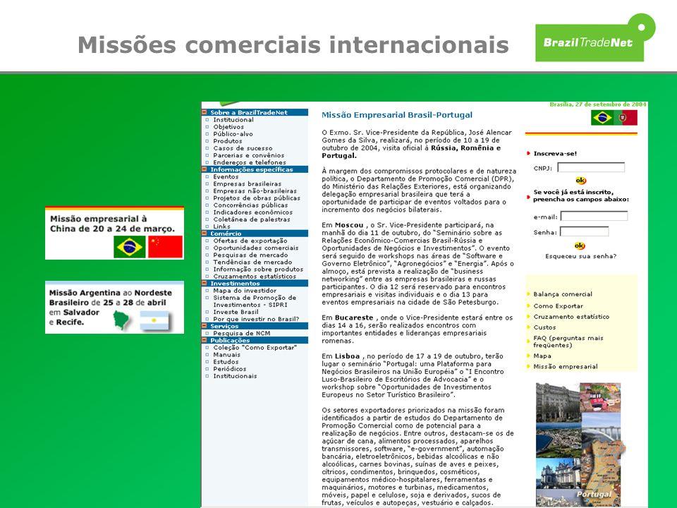 Missões comerciais internacionais