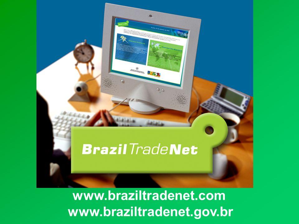 A BrazilTradeNet é o portal de comércio exterior do Ministério das Relações Exteriores.