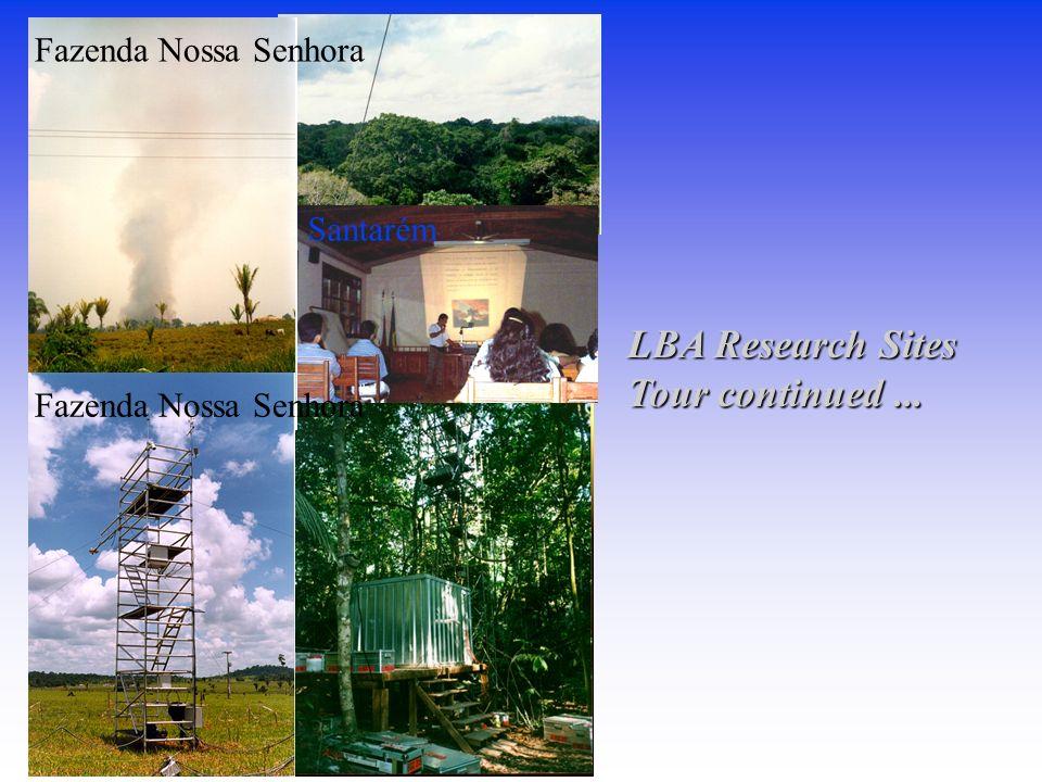 Fazenda Nossa Senhora Santarém LBA Research Sites Tour continued...