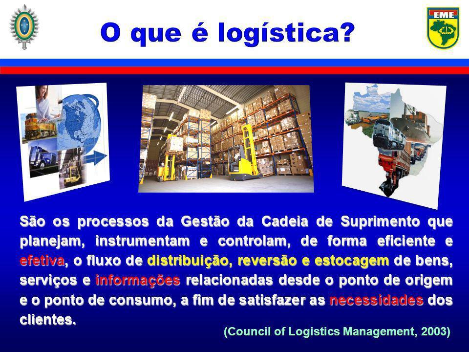 O objetivo da logística é tornar disponíveis produtos e serviços no local onde são necessários, no momento em que são desejados.