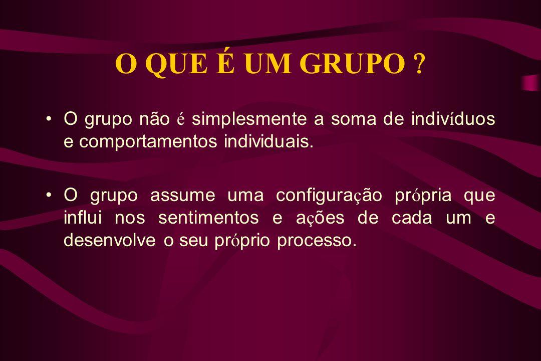 C oncep ç ões para a Dinâmica Grupal, cada uma delas reflete uma posi ç ão particular do que seja, e para que serve essa especialidade do conhecimento.