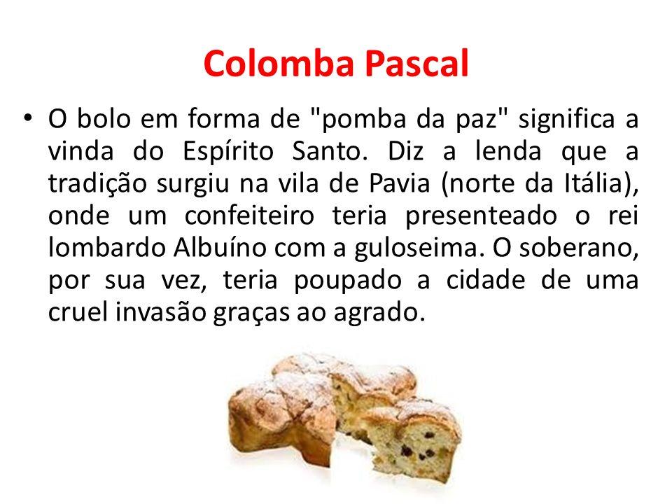 Colomba Pascal O bolo em forma de