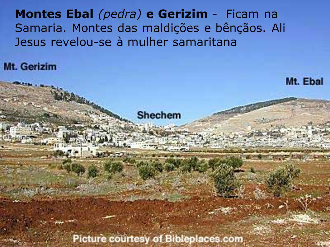 As Principais Elevações Na parte ocidental do rio Jordão Líbano (a montanha branca) – Corre paralelo ao Mar Mediterrâneo, por 170 km.