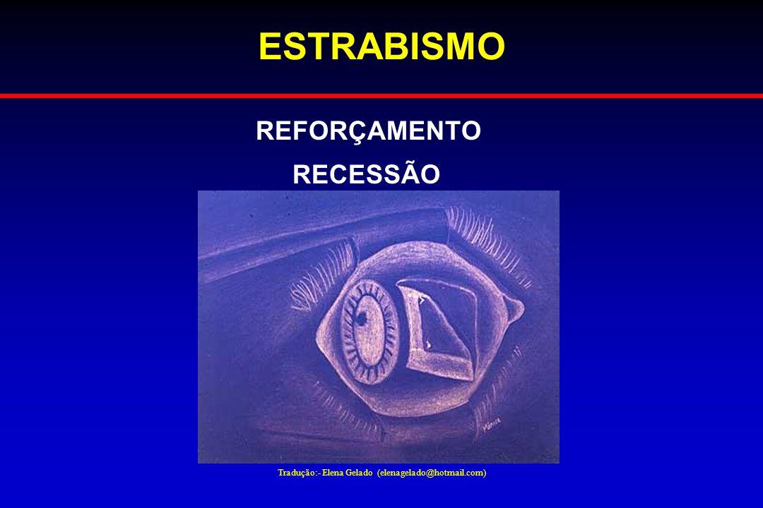 Tradução:- Elena Gelado (elenagelado@hotmail.com) ESTRABISMO REFORÇAMENTO RECESSÃO