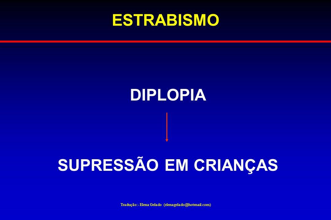 Tradução:- Elena Gelado (elenagelado@hotmail.com) ESTRABISMO DIPLOPIA SUPRESSÃO EM CRIANÇAS